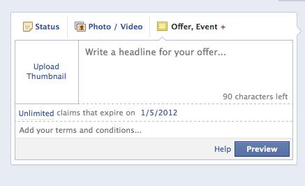 Create Facebook offer